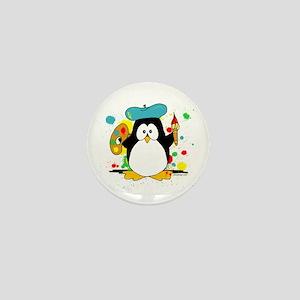 Artistic Penguin Mini Button