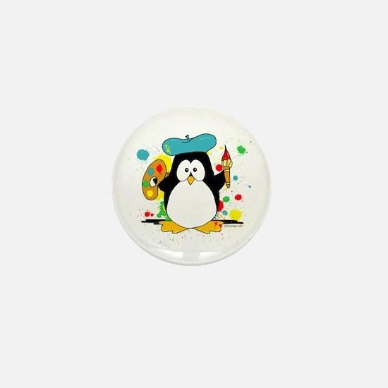Artistic Penguin Mini Button (10 pack)
