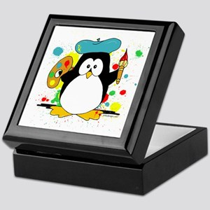 Artistic Penguin Keepsake Box