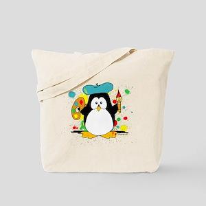 Artistic Penguin Tote Bag