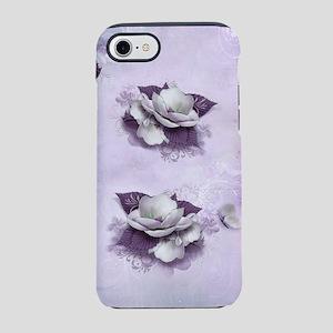Artistic Violet Floral iPhone 7 Tough Case