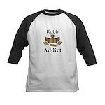 Kubb Addict Kids Baseball Tee