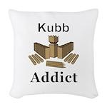 Kubb Addict Woven Throw Pillow