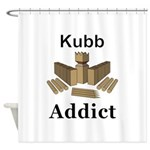 Kubb Addict Shower Curtain