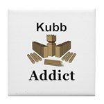 Kubb Addict Tile Coaster