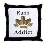 Kubb Addict Throw Pillow