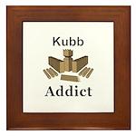 Kubb Addict Framed Tile