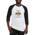 Kubb Junkie Baseball Tee