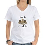 Kubb Junkie Women's V-Neck T-Shirt