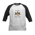 Kubb Junkie Kids Baseball Tee