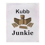 Kubb Junkie Throw Blanket