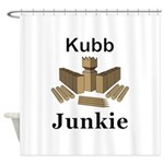 Kubb Junkie Shower Curtain