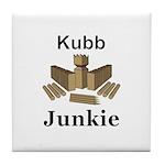 Kubb Junkie Tile Coaster