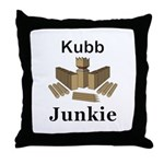 Kubb Junkie Throw Pillow