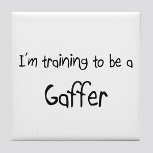 I'm training to be a Gaffer Tile Coaster