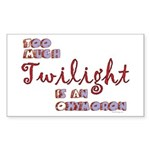 Too Much Twilight Bumper Rectangle Sticker