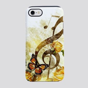 Butterfly Music Notes iPhone 7 Tough Case