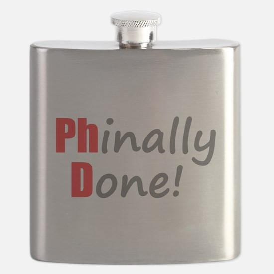 Phinally Done - PhD Gifts Flask