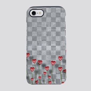 Checkered Love Hearts iPhone 7 Tough Case