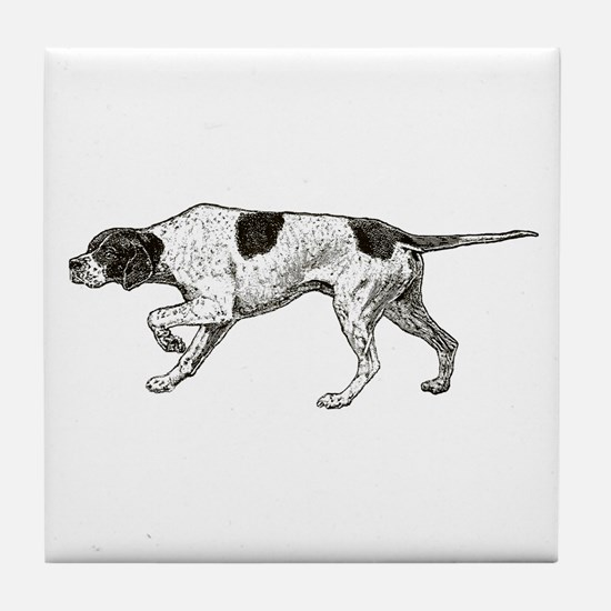 Vintage Pointer Tile Coaster