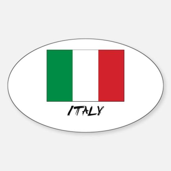 Italy Flag Oval Decal