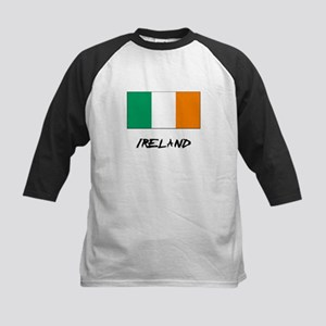 Ireland Flag Kids Baseball Jersey