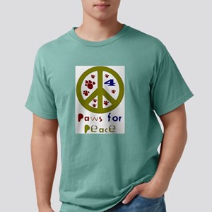 Paws for Peace Olive Ash Grey T-Shirt