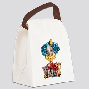 Clown Girl Canvas Lunch Bag