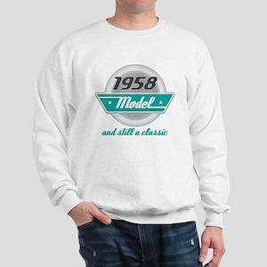 1958 Birthday Vintage Chrome Sweatshirt