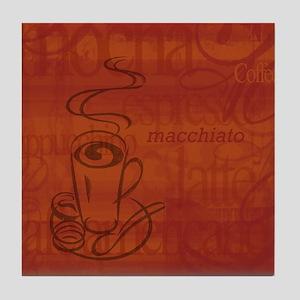 Cafe coffee Art Tile Coaster