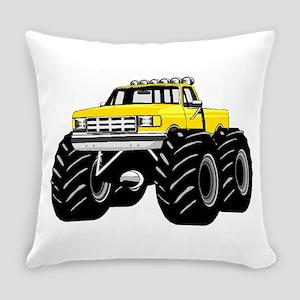 Yellow MONSTER Truck Everyday Pillow