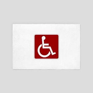 Handicapped 4' x 6' Rug