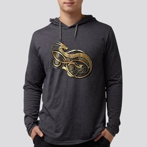 Gold Norse Dragon Long Sleeve T-Shirt