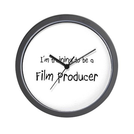 I'm training to be a Film Producer Wall Clock