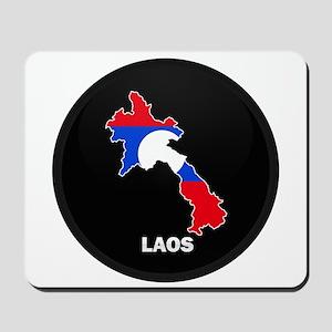 Flag Map of Laos Mousepad