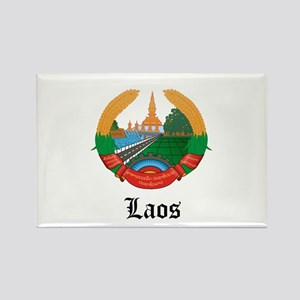 Laotian Coat of Arms Seal Rectangle Magnet