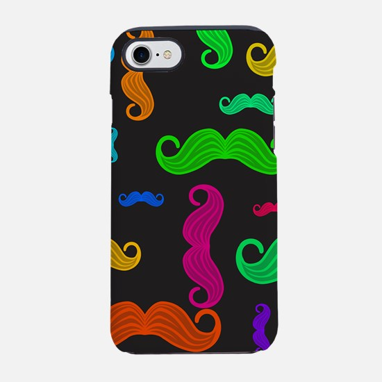 Colorful Moustache Pattern iPhone 7 Tough Case
