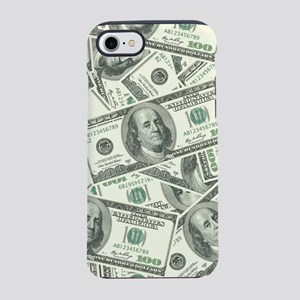 100 Dollar Bill Pattern iPhone 7 Tough Case