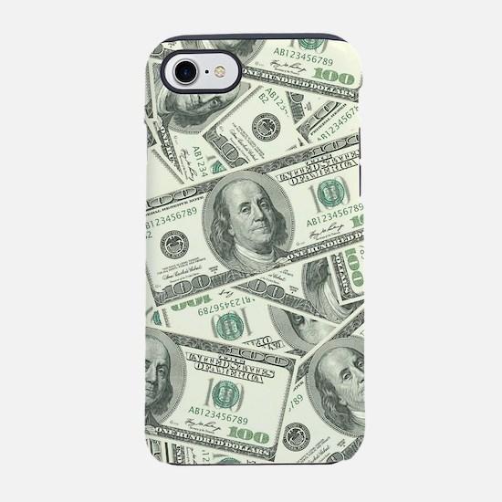 100 Dollar Bill Pattern iPhone 7 Tough Case