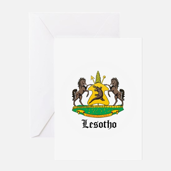 Losotho Coat of Arms Seal Greeting Card