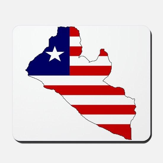 LIBERIA Flag Map Mousepad