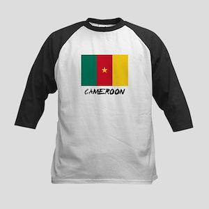 Cameroon Flag Kids Baseball Jersey