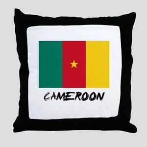 Cameroon Flag Throw Pillow