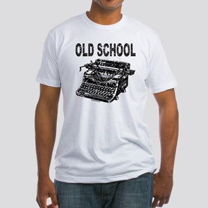 OLD SCHOOL TYPEWRITER Fitted T-Shirt