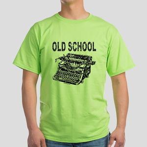 OLD SCHOOL TYPEWRITER Green T-Shirt