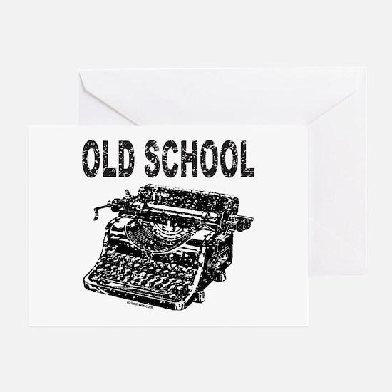 OLD SCHOOL TYPEWRITER Greeting Card