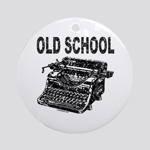 OLD SCHOOL TYPEWRITER Ornament (Round)