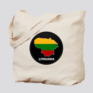 Flag Map of Lithuania Tote Bag
