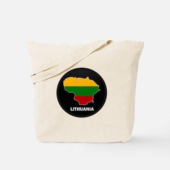 Flag Map of Lithuania Tote Bag