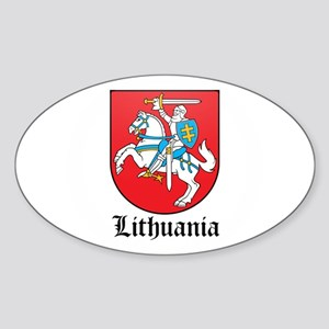 Lithuanian Coat of Arms Seal Oval Sticker
